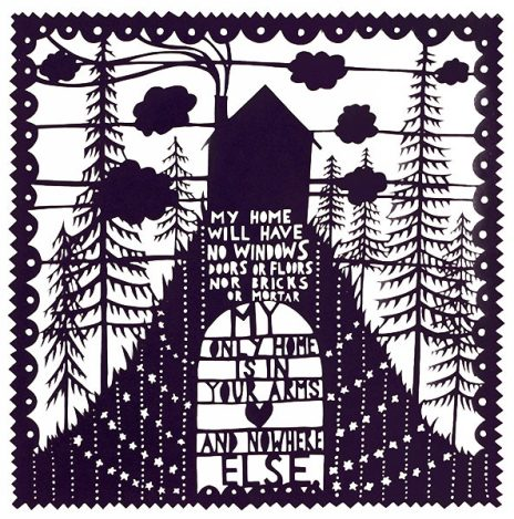 rob_ryan_My_Home_original_Papercut