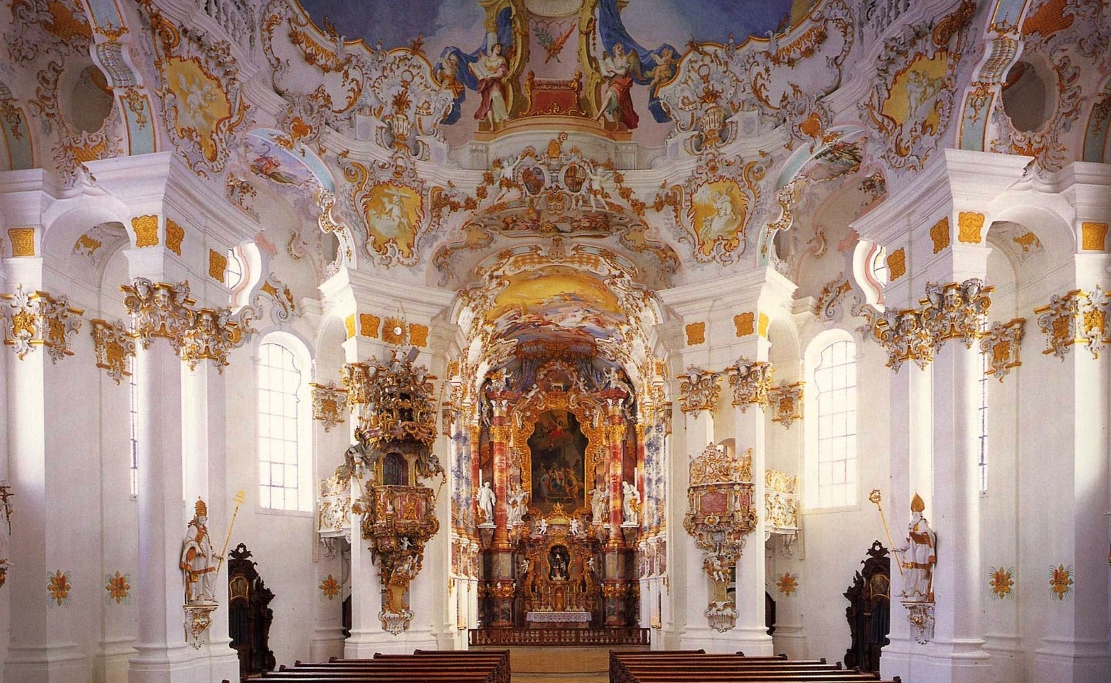 Rococo design research for Baroque style church