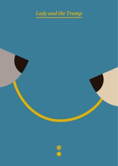 lady-and-the-tramp-minimalist-poster