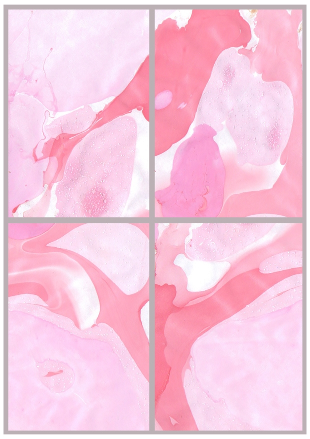 Pink Marbled Prints