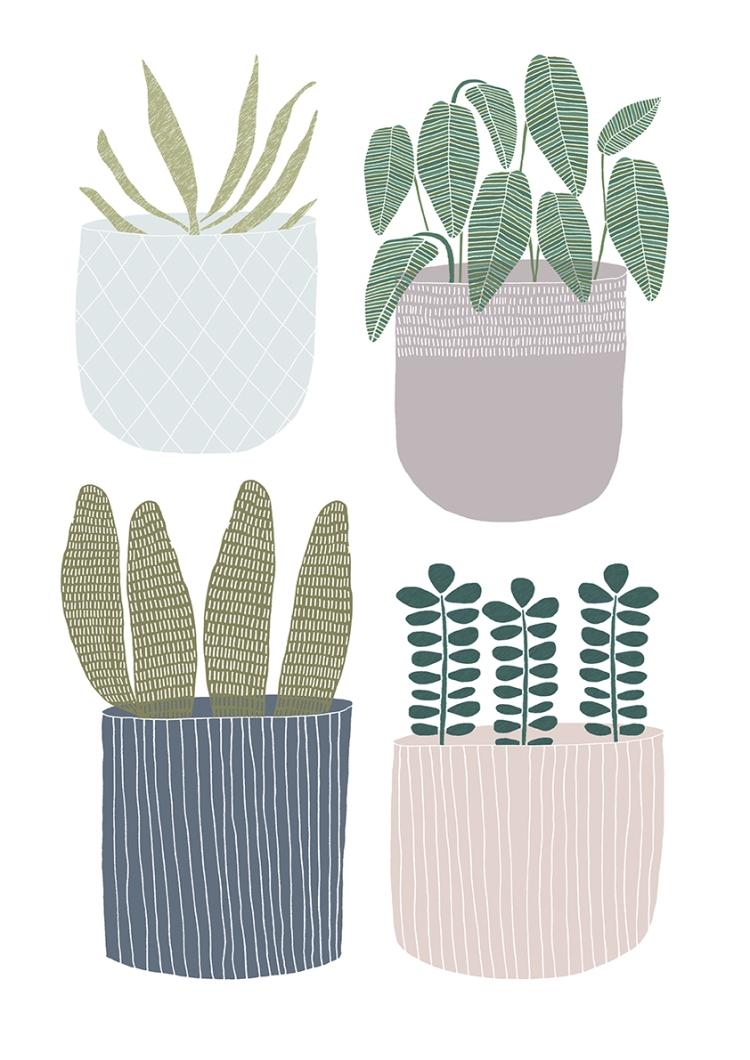 Plant Pot Print 1