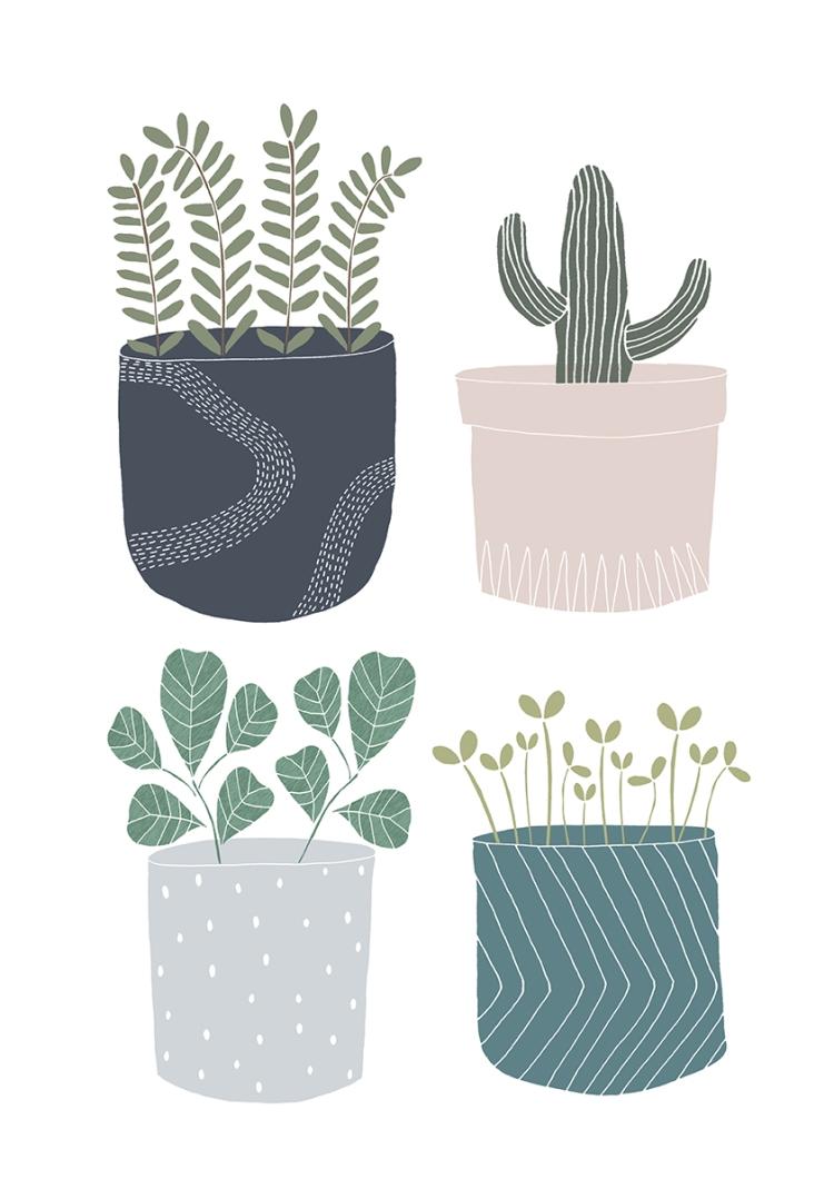 Plant Pot Print 2